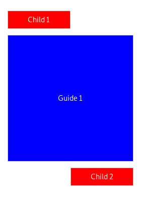 An example of the guide UI element
